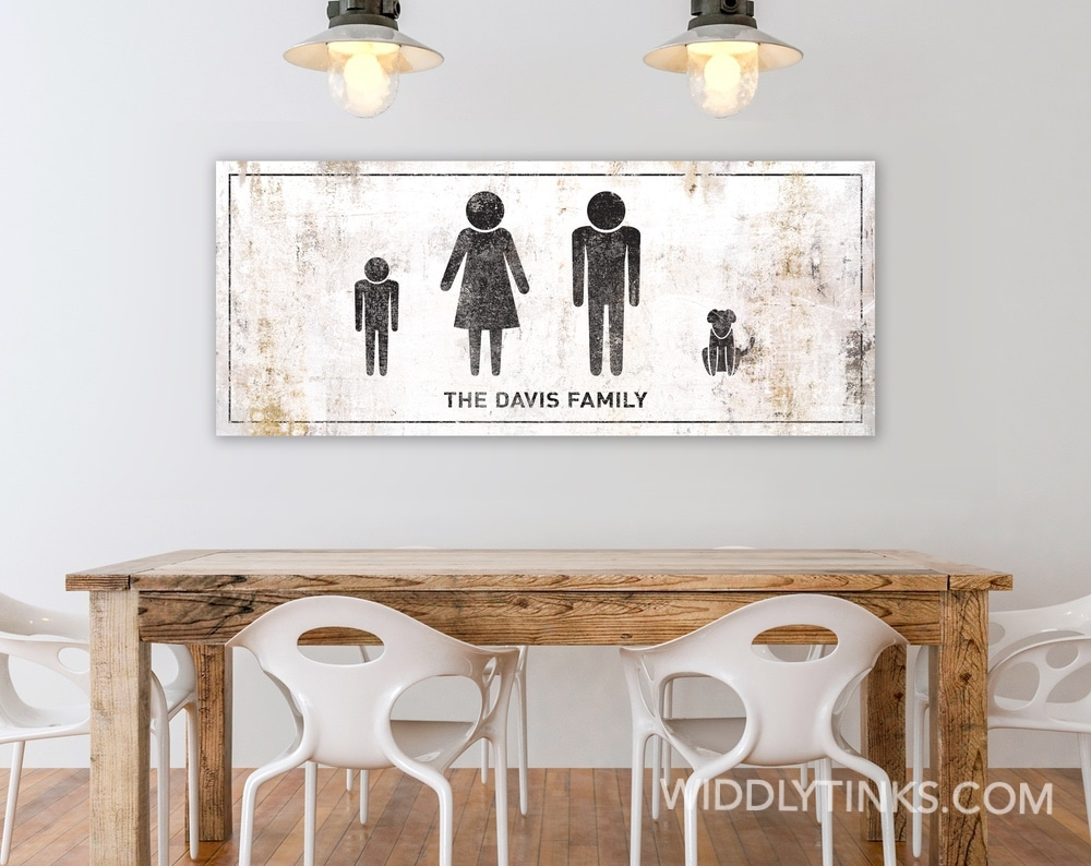 personalized my stick family wall sign