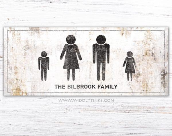 stick figure family 4 simple