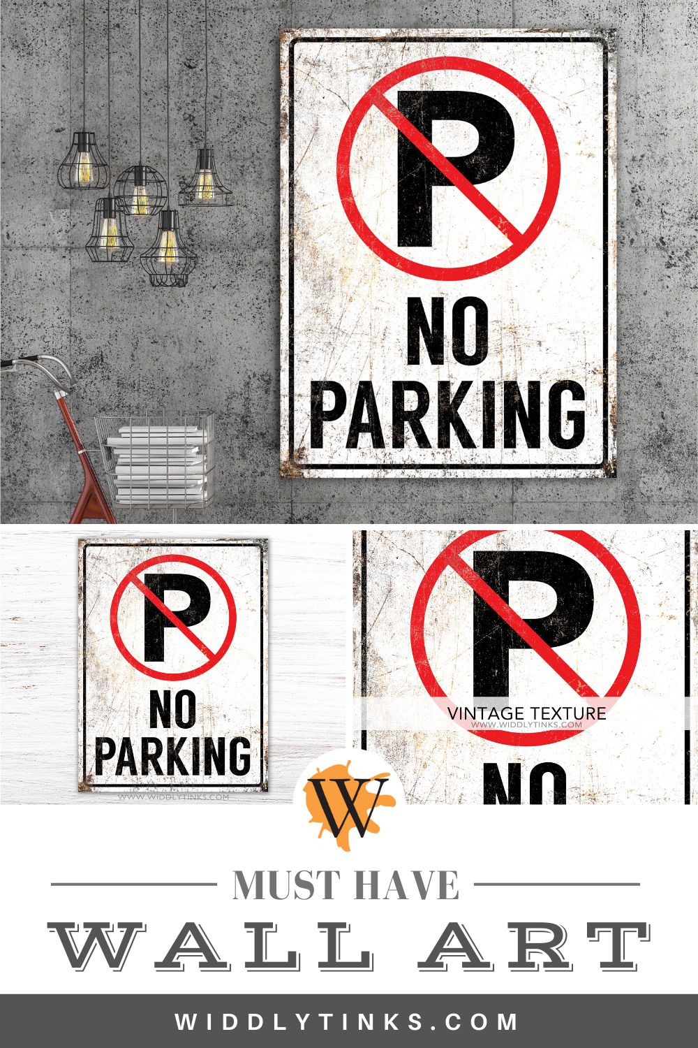 urban industrial no parking sign