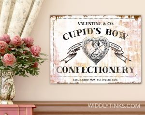 valentines day cupids bow confectionery room