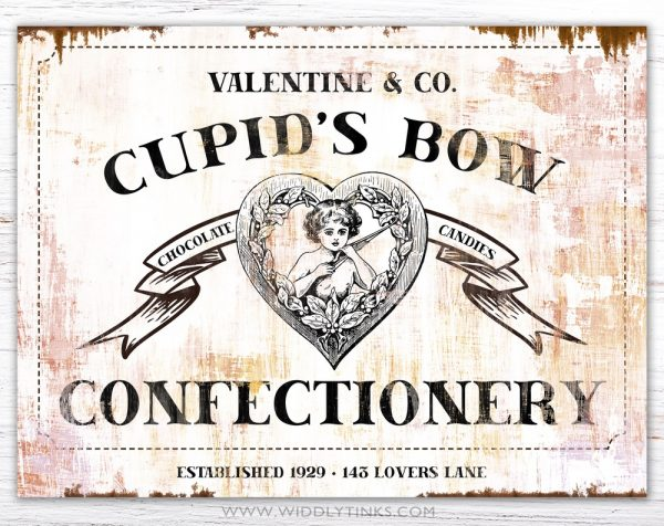 valentines day cupids bow confectionery