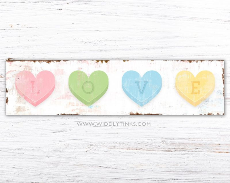 valentines day love conversation hearts rectangle