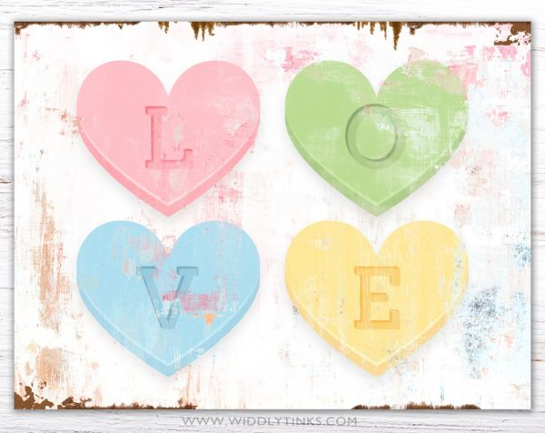 valentines day pastel hearts love