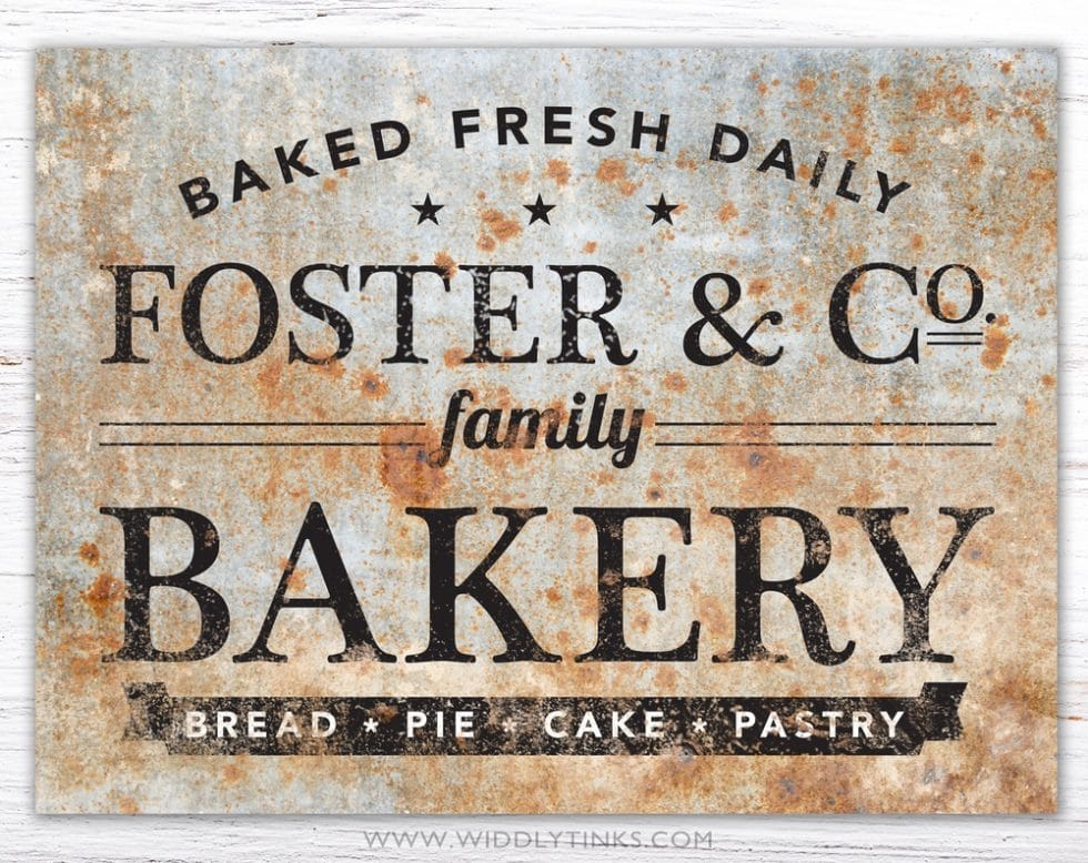 vintage family company bakery kitchen sign simple