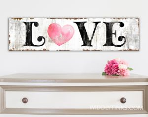 vintage farmhouse love heart room