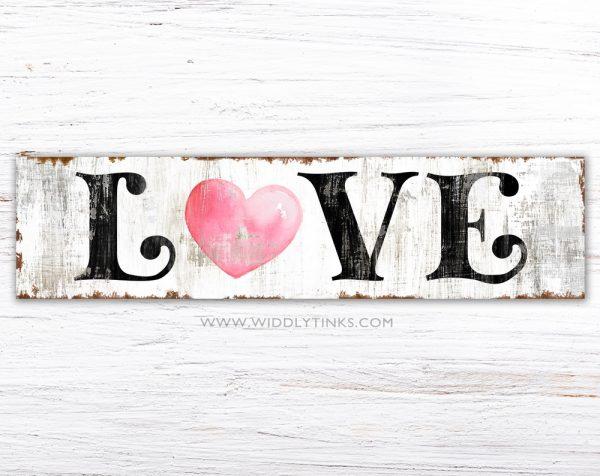 vintage farmhouse love heart