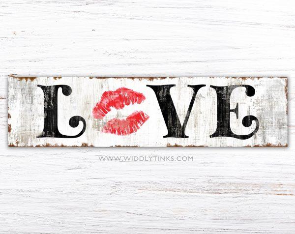 vintage farmhouse love kiss