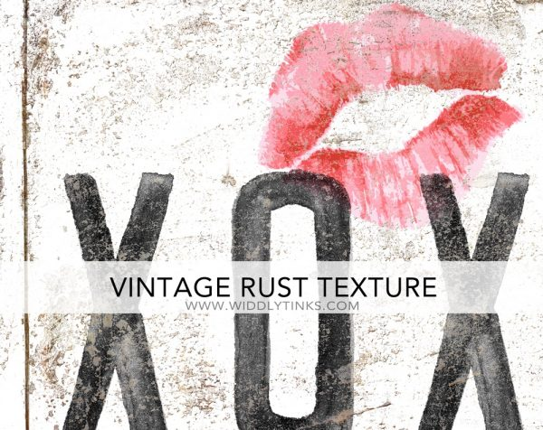 vintage farmhouse rusty xoxo hugs kisses white
