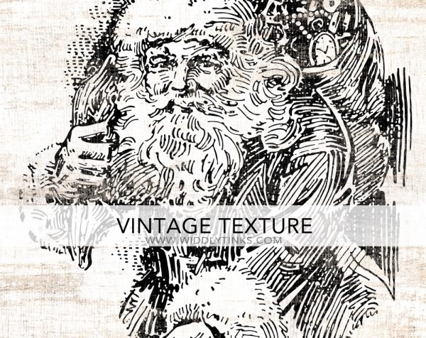 vintage santa merry christmas sign closeup