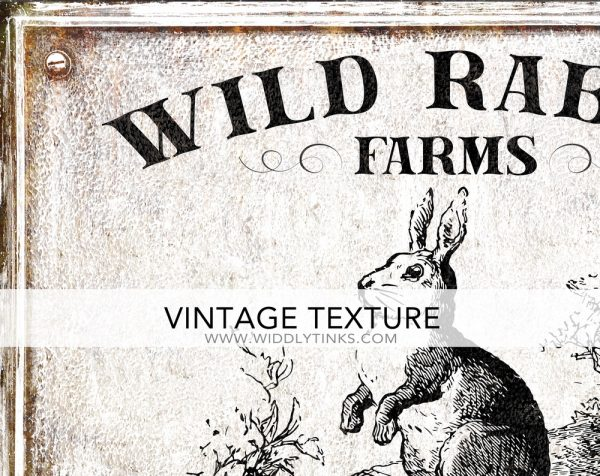 wild rabbit farms spring sign closeup