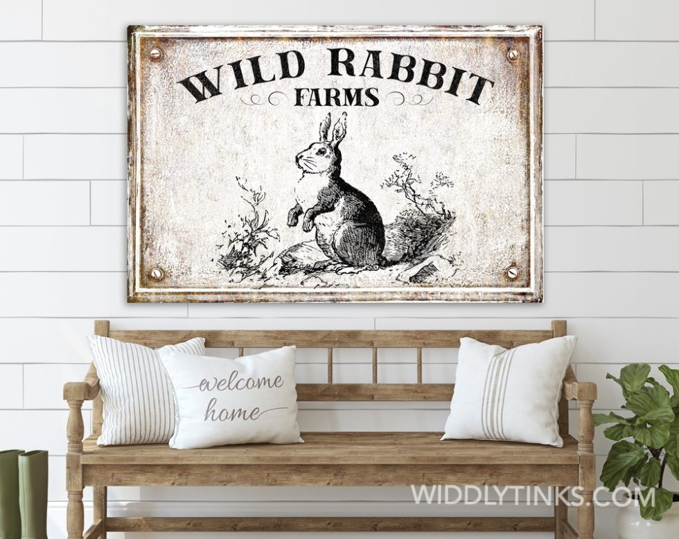 wild rabbit farms spring sign room