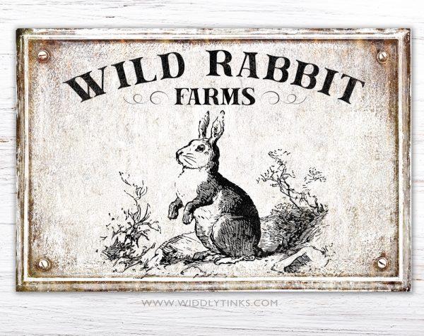 wild rabbit farms spring sign simple