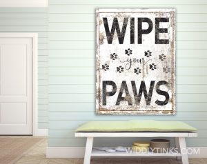 wipe your paws room