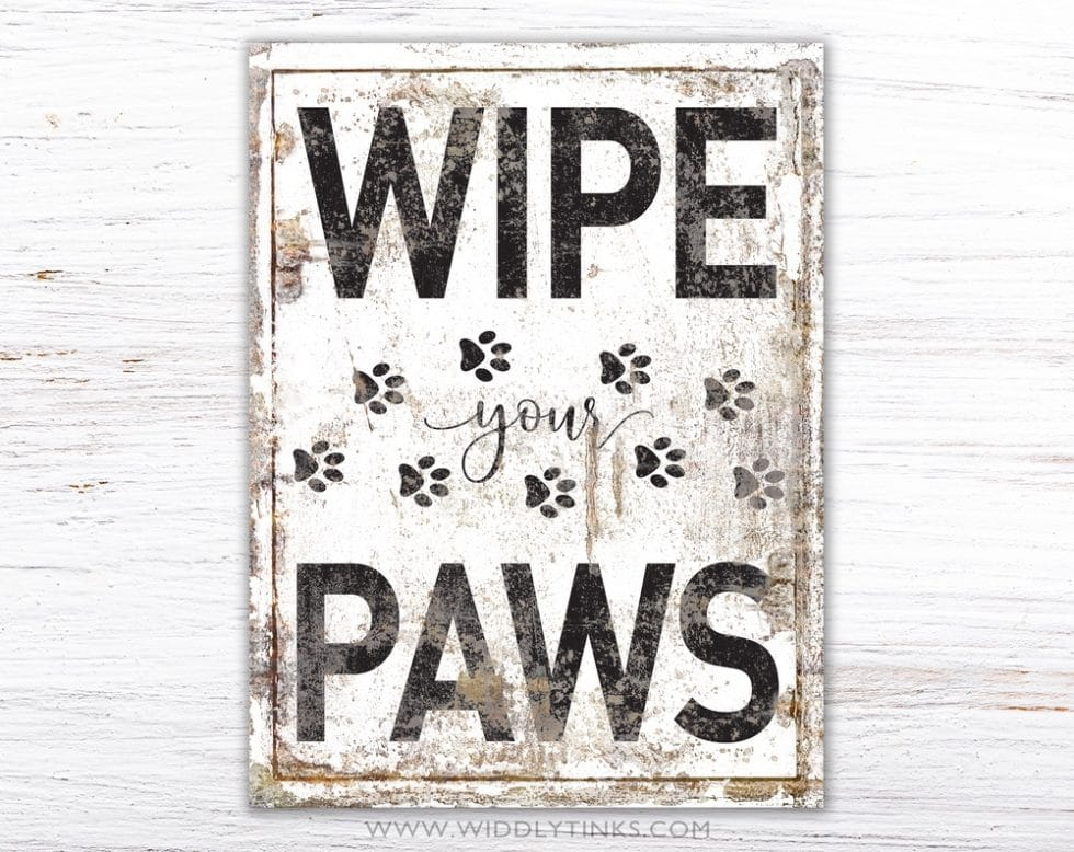 wipe your paws simple